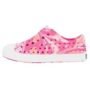Native Jefferson Pink & Peach Marbled Water Shoes